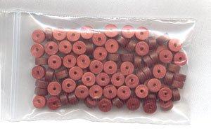 Polymer Clay Heishi, Deep Copper