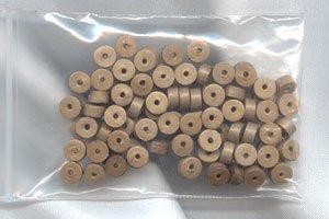 Polymer Clay Heishi, Bronze