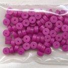 Polymer Clay Heishi, Fuchsia
