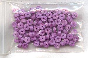 Polymer Clay Heishi, Amethyst