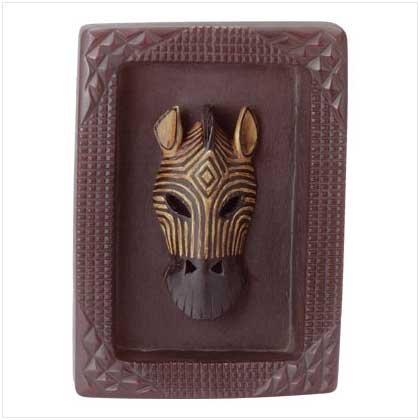 Zebra Mask Plaque - 35356