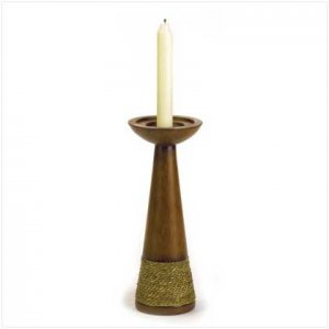 Rope Trimmed Candle Holder - 37964
