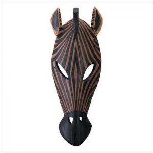 Zebra Mask Wall Plaque - 34758