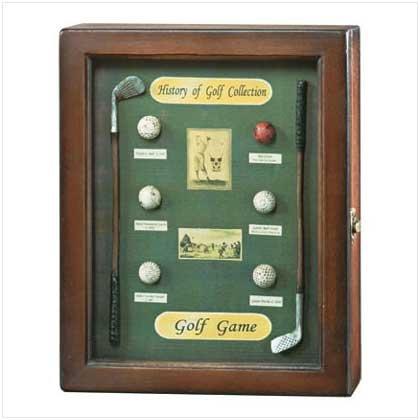 History Of Golf Shadowbox - 35175