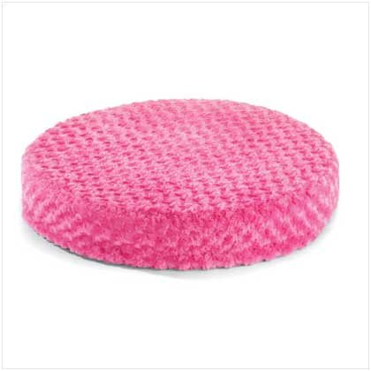 Pink Plush Round Pet Bed - 37530