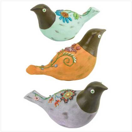 Bird Family Trio Statuary - 37764