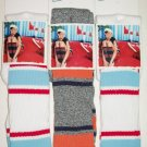 3 Hanes stripe knee high womens socks size 5-9
