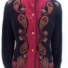 Saxton Hall vintage mandarin collar velvet jacket size 8