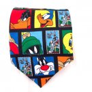 Looney Tunes Stamp Collection characters mens neck tie