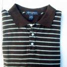 BANANA REPUBLIC stripe Long Sleeve POLO Shirt size XL