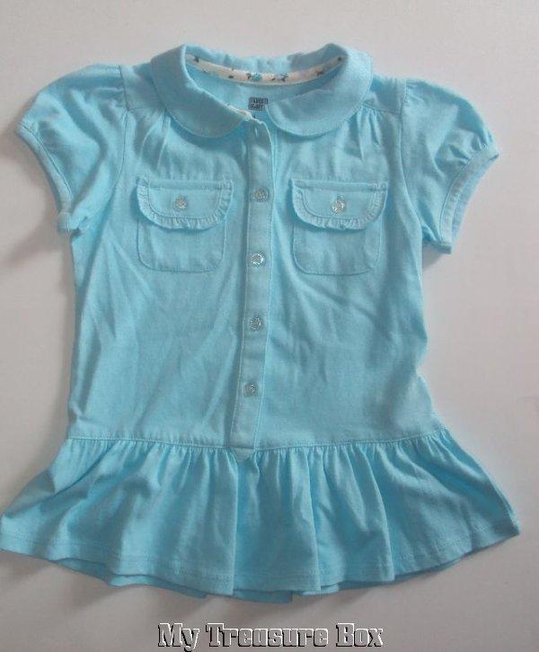 Faded Glory Aqua Color 4T Casual Summer Dress