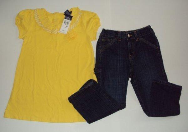 CHAPS Girls Trendy Top & Jordache Brand Jeans Size 6-6X
