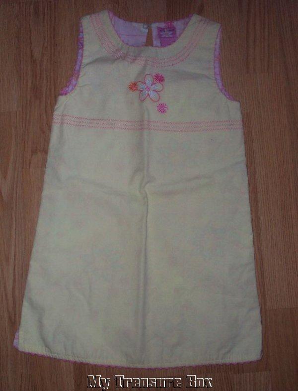 EMMA'S GARDEN Size 5 YELLOW Floral SLEEVELESS Dress