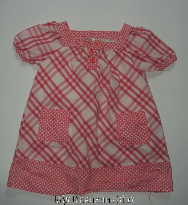 CHEROKEE 12M Lightweight Spring Pink White Dress