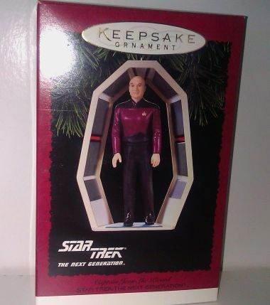 MIB Star Trek Captain Jean Luc Picard Keepsake Hallmark