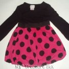 Xhilaration 12 M Hot Pink Black Polka Dot Cute Baby Dre