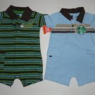 JUST ONE YEAR Carter's Boys Lot 2 Rompers NWT 3 M