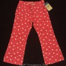 NWT OSHKOSH 3T Butterfly SALMON COLORED FLARED JEANS