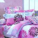 Pink Blue Cotton Bedding Set Dandelion