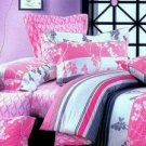 Quality Pink Cotton Bedding Set Flower