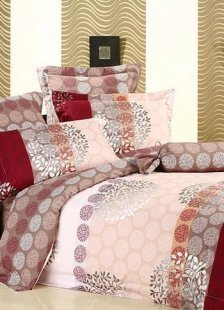 4-pc Elegant Brown Thicken Woolens Cotton Duvet Cover Bedding Set