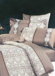 4-pc Grey Jacquard Floral Satin Drill Duvet Cover Bedding Set