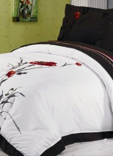 Brown Chinese Ink And Wash Painting Duvet Cover Bedding Set