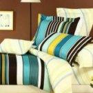 4-pc Beautiful Yellow Cotton Floral Reactive Print Duvet Cover Bedding Set
