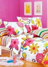 Adorable Colorful Cotton 4-pc Bedding Set