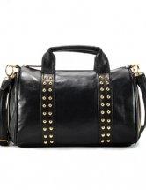 Glamorous Black Cylindric  Adjustable Womens Shoulder Bag