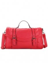Gorgeous Red Leather Shoulder Bag For Women