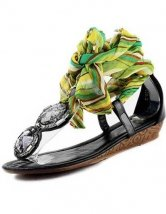 Beautiful Exotic Black Womens Flat Flip Flop