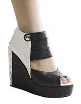 Black Peep  Wedge  Womens Sandals