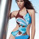 Fabulous Colorful  Halter One-Piece Ladies Swimsuit