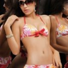 Charming Colorful  Floral Two-Piece Ladies Bikini Swimsuit