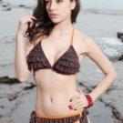 Fabulous Coffee Ruffles Two-Piece Bikini Swimsuit