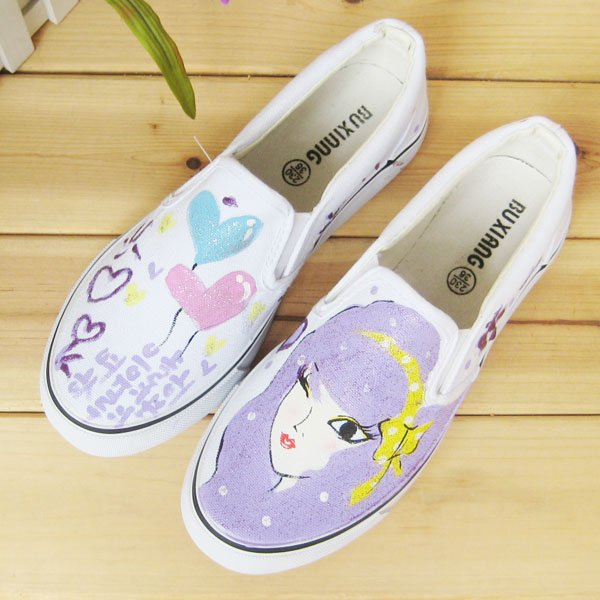 Painting Shoes Jean Shoes Appreal Footwear Lady shoes Canvas shoes   Shoes