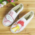 Elastic Shoes Painting Shoes Low Cut Shoe Jean Shoes Appreal Footwear Lady shoes Canvas Shoes Shoes