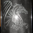 Black Dragon Glass Etching