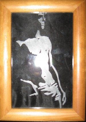 Shadow Boy On Glass