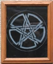 Pentacle On Glass