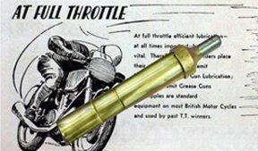 Triumph BSA Norton Velo - BRASS GREASE GUN-Old Tool Kit
