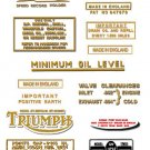 1968-69: Bonneville T120 T120R Decals - DECAL SET- Triumph Bonneville Decals