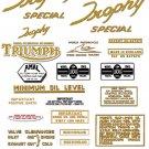 1964-67: Triumph Trophy Competition Special Decals - Triumph TR6C TR6SC Decals