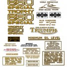 Triumph Trophy Special Decals: 1968-71:  TR6C TR6SC