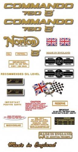 Norton Commando 750S  Decals - RESTORERS DECALS SET