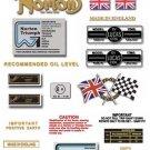 1974: Norton 850cc Commando MkIII - Restorers Stickers (Adhesive Transfers)