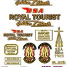 1960-63: BSA Royal Tourist Decals - A10 Decal set