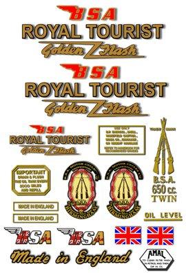 1960-63: BSA Royal Tourist Decals - A10 Decal set
