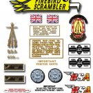 1972: A65 FS - BSA FIREBIRD SCRAMBLER DECALS - Set